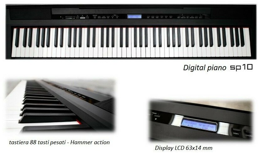 ECHORD SP10 B BLACK- PIANOFORTE DIGITALE 88 TASTI PESATI