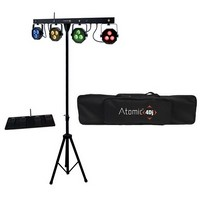ATOMIC4DJ PLS4 WIRELESS - SET 4 FARI A LED DMX CON PEDALIERA WIRELESS